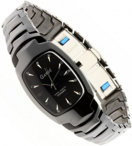 Garde Uhr elegante Damenuhr Keramikuhr 21565 schwarz ceramic ladies watch