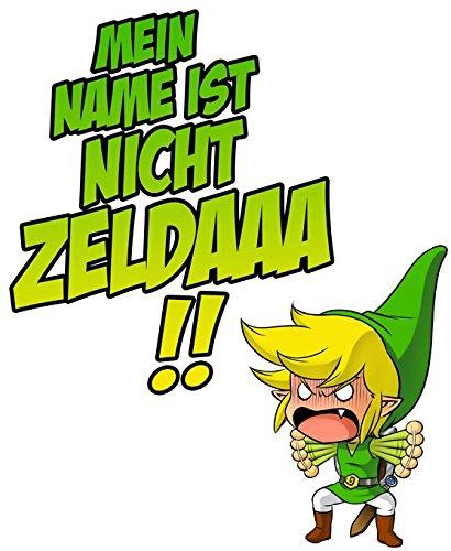 Parodie auf Link von The Legend of Zelda - Manga Herren T-shirt (696) Schwarz