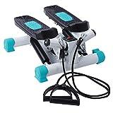 Portable Twist Stair Stepper Mini Stepper voor training met weerstandsbanden Klein en draagbaar cardiotoestel voor thuisfitnessapparatuur met LCD-scherm