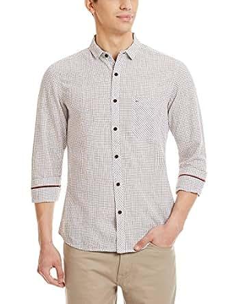 Indigo Nation Men's Casual Shirt (8907372298221_1ISE1532_Brown_44)