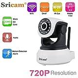 Sricam SP017 IP Kamera 720P Wlan Überwachungskamera ONVIF IP Cam Pan / Tilt P2P 2 Wege Audio Baby Monitor IR Nachtsicht Innenkamera E-Mail Alarm
