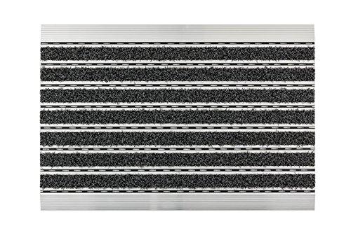 ASTRA Elegant Mat Aluminium Fußmatte, anthrazit, 40 x 60 cm