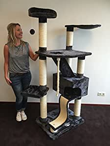 kratzbaum gro e katze xxl kilimandjaro anthrazit sisalst mme 12cm katzenkratzbaum f r gro e. Black Bedroom Furniture Sets. Home Design Ideas