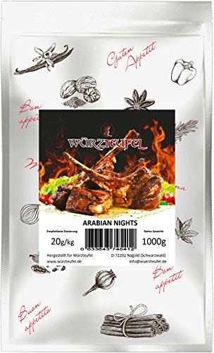 Arabian Nights orientalische Grill - Gewürzzubereitung, Grillmeister Edition. Beutel 1000g (1KG)