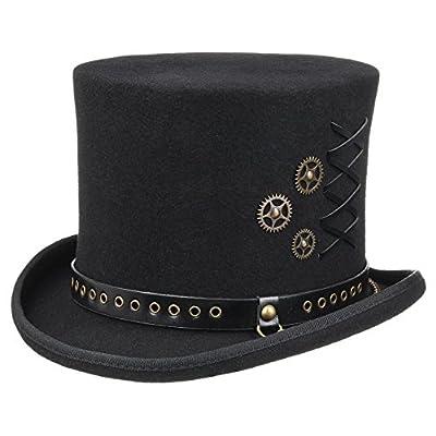 Sombrero de Copa Lacing Steampunk de fieltro, sombrero steampunk, sombrero steampunk mujer, sombreros steampunk