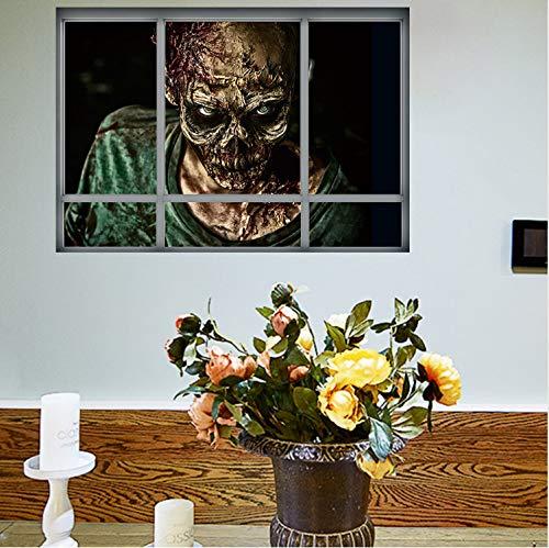 Smntt Halloween Zombie Wandaufkleber Horror Poster Fenster Ansicht Große Größe Aufkleber Raumdekoration Wandtattoos Kinder Geschenke