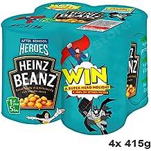 Heinz Baked Beans In Tomato Sauce 4x415g - gebackene Bohnen in Tomatensoße