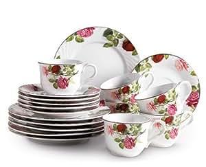 Domestic 688847 servizio da caff in porcellana 18 pezzi for Decorazioni piatti da cucina
