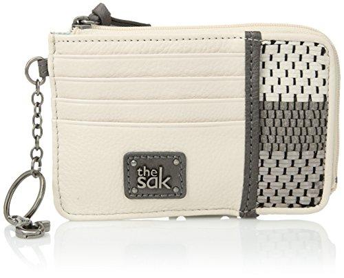 The SAK Damen Card Wallet Iris, Karten-Etui, Slate Metallic Woven, Einheitsgröße Metallic-woven Leder
