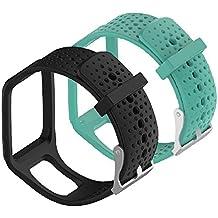 WEINISITE Ajustable Reemplazo Pulsera para TomTom Runner 1/TomTom Multi-Sport Cardio/TomTom Multi-Sport + HRM