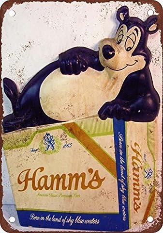 Hamm de bière Ours Look Vintage Reproduction Plaque en métal