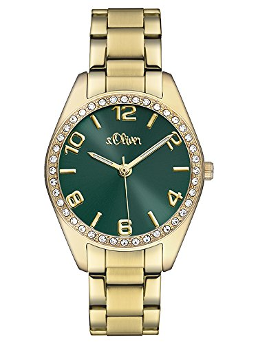 s.Oliver - SO-3061-MQ - Montre Femme - Quartz - Analogique - Bracelet Acier Inoxydable Doré