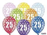 12 PEZZI Palloncini LATTICE 30 CM numero 25 COMPLEANNO 25 ANNI