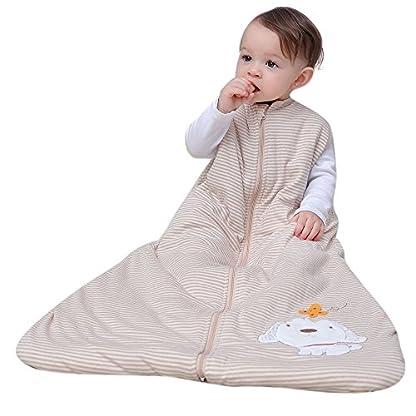 Saco de dormir para niños de manga larga, de algodón, para bebés, bebés y niños de 2,5 tog Talla:3-6years