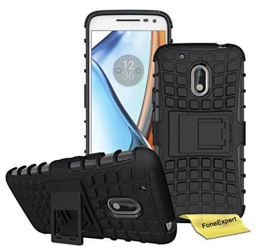 Preisvergleich Produktbild Motorola Moto G4 / G4 Plus Handy Tasche, FoneExpert® Hülle Abdeckung Cover schutzhülle Tough Strong Rugged Shock Proof Heavy Duty Case für Motorola Moto G4 / G4 Plus (Schwarz)