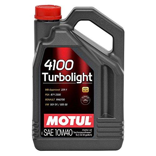 olio motore MOTUL 4100 TURBOLIGHT 10W40 5 lit