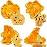 Kylewo 4Pcs Tagliabiscotti di Halloween Biscotti Biscotti...