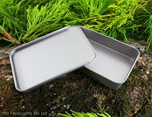 Opfree Mini Größe Leere Folie Deckel Survival Tin Container für Pille Lagerung, Nähzeug, Geld, Lippenbalsam, Handwerk, Survival Kits (3er Pack)