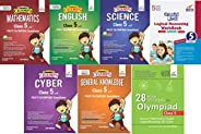 Olympiad Champs Science, Mathematics, English, Logical Reasoning, Cyber & GK Class 5 with 28 Mock Tests (s