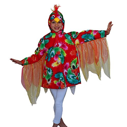 Kinder Kostüm Bunter Papagei Polly Gr. 104 Vogel Tier Fasching Karneval