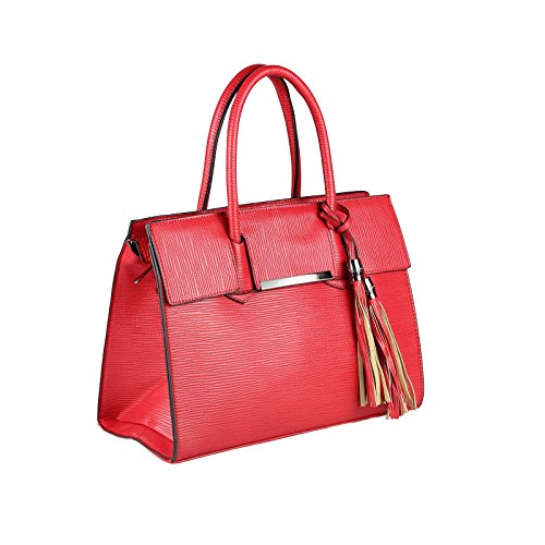 OBC Only-Beautiful-Couture, Borsa a mano donna rosso Rot. ca.: 35x26x15 cm (BxHxT) Rot.