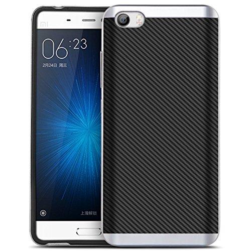Xiaomi 5 Funda, HICASER Carbon Fiber Choque Absorción Protección Silicona Carcasa para...