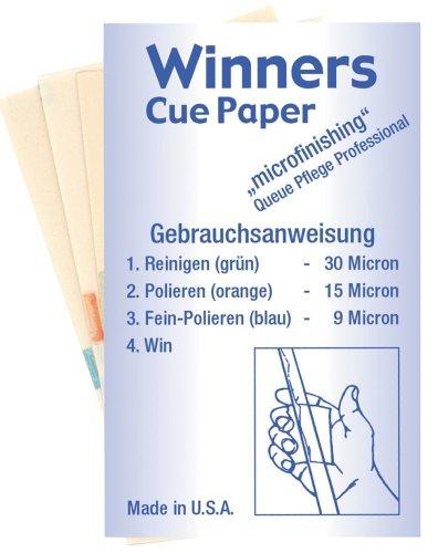 "Preisvergleich Produktbild Profi Queue Pflege,  Winners Cue-Paper (Set). ""Micro""-Schleifpapier"