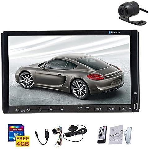Monitor Car DVD Player Bluetooth Doppio Din autoradio USB SD Autoradio Headunit FM AM Video Radio Receiver Audio tocco 7inch schermo Costruito nel RDS iPod Camera - Modulo Di Controllo Staffa