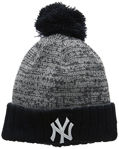 New Era Heather Team Bobble Cuff Neyyan Otcgra - Cappello Linea New York Yankees da Uomo, colore Blu, taglia OSFA