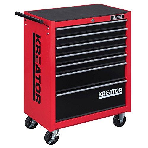 Mobiler Werkstattwagen Werkzeugwagen 348 tlg. gefüllt abschließbar 7 Schubladen - 2