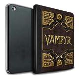 Stuff4® PU-Leder Hülle/Case/Brieftasche für Apple iPad Air 2 Tablet/Vampyr Buch Muster/Vampirjägerin Kollektion