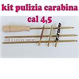 globe fishing kit pulizia carabina calibro 4,5 scovoli scovolini asta bacchetta