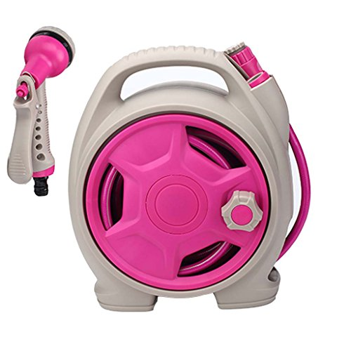 Car wash supplies Roscloud@ Multi-Color-tragbare Wasserpistole Home Gardening Lagerregal Set (Farbe : Pink)