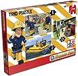 Jumbo Fireman Sam Trio Jigsaw Puzzle (6 /12 /24 Pieces)