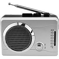 DIGITNOW! Reproductor de cassette portátil USB radio grabadora de cassette con auriculares