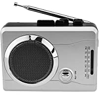 DIGITNOW!AM/FM Portable Pocket Radio and Voice Audio Cassette Recorder, Personal Audio Walkman Cassette Player with Built-in Speaker and earphone