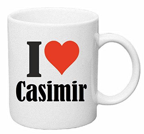 Reifen-Markt Tasse de Café Tasse à Thé ... Coffee Mug I Love Casimir Hauteur 9 cm de Diamètre 8 cm Volume 330 ml Le cadeau idéal pour leur Partenaire - Collègue - Amis