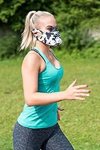 GEEZ profesionelle Trainingsmaske für Höhentraining - steigerung der körperlichen Fitness Atemmaske Trainings Maske training Mask (Camouflage)