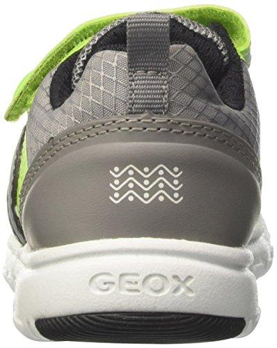 Geox J Xunday B, Scarpe da Ginnastica Basse Bambino Grigio (Lime/greyc2292)
