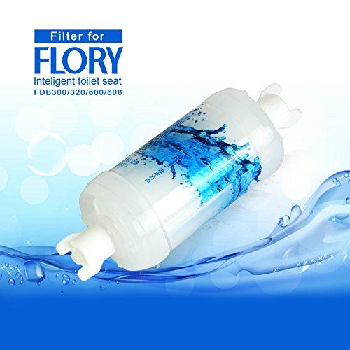 J. Flory UE électrique intelligent bidet WC fonctions intégrées, panneau latéral système d'exploitation, technologie d'économie d'énergie, respectueux de l'environnement, Ranger la chaleur pour siège d'eau et d'air chaud, sec, fdb320, Filter, Taille M