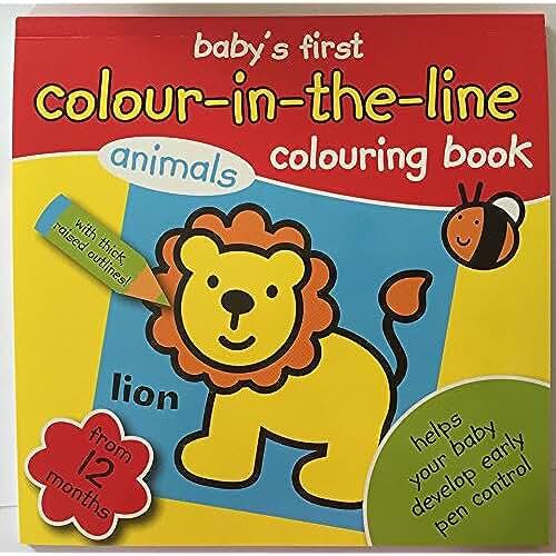 jirafa kawaii para colorear y mas Mi libro de colorear del bebé primer libro para colorear color en la línea de 12meses +