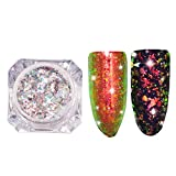 MERICAL Galerie Flocons Aluminium Glitter Paillettes Galerie Holo Poudres Paillettes Ongles DIY