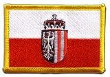 Flaggen Aufnäher Österreich Oberösterreich Fahne Patch +