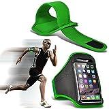 I-Sonite (Green) Justierbarer Sweatproof/Wasser-beständiger Sport-Eignungs-Laufender Turnhallen-Armband-Telefon-Fall für Huawei P8Lite ALE-L04 [ XL ]