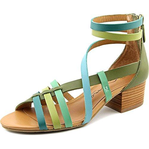 Nina Victor Cuir Sandales Gladiateur Multi Green