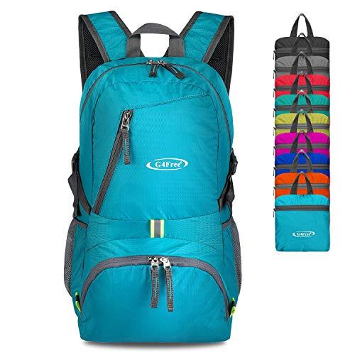 G4Free 30L Ultra Leichter Reißen und Wasserdicht Faltbarer Verpackbarer Rucksack für Das Reisen Camping Radfahren Wandern oder Multipurpose Daypack