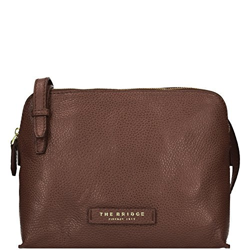 The Bridge Plume Soft Donna Sac bandoulière cuir 26 cm marrone