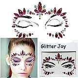 Gem Sticker Viso e Corpo Gioielli Gemma Adesivi Glitter Make Up per Party Festival televisivi e palcoscenico bfg22Rosa