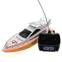 Arpoador Mini Remote Control RC Speed Boat Modèle de simulation Ship Sailing Jeu Course jouet Couleur aléatoire