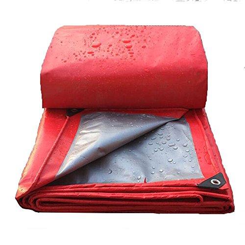 BJL Abdeckplane Wasserdichte Plane, Im Freien Verdickung Regendichte Wärmedämmung Plane Rot Silber 0.4mm-200g/㎡ ++ (größe : 5x8m) - Rot-gewebe Im Freien